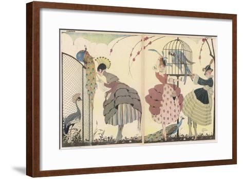 "Satire on the Current ""Peacock"" Modes-Gerda Wegener-Framed Art Print"