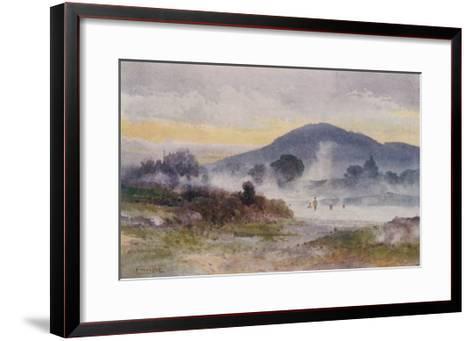 Hot Pools Near Ngongotaha Mountain-F. Wright-Framed Art Print