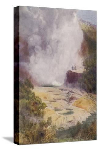 The Champagne Cauldron Hot Spring Near Rotorua in New Zealand-F. Wright-Stretched Canvas Print