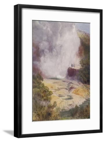 The Champagne Cauldron Hot Spring Near Rotorua in New Zealand-F. Wright-Framed Art Print