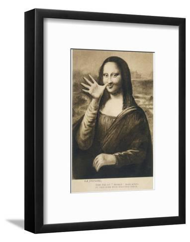 The Mona Lisa Says Goodbye When the Painting is Stolen from the Louvre Paris--Framed Art Print