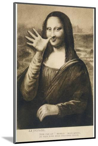 The Mona Lisa Says Goodbye When the Painting is Stolen from the Louvre Paris--Mounted Giclee Print