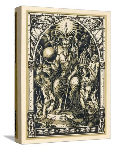Satan Presides at the Sabbat Attended by Demons in Human or Animal Shapes-Bernard Zuber-Stretched Canvas Print
