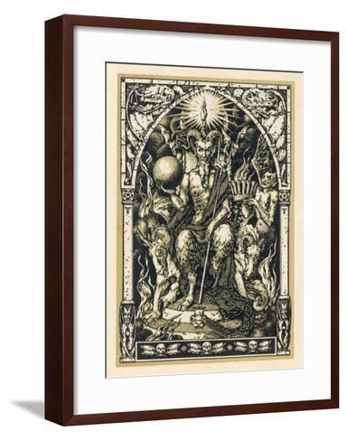 Satan Presides at the Sabbat Attended by Demons in Human or Animal Shapes-Bernard Zuber-Framed Art Print