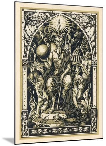 Satan Presides at the Sabbat Attended by Demons in Human or Animal Shapes-Bernard Zuber-Mounted Giclee Print
