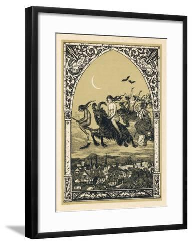 Guillemette Babin and Her Fellow- Witches Naked are Carried-Bernard Zuber-Framed Art Print