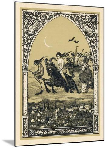 Guillemette Babin and Her Fellow- Witches Naked are Carried-Bernard Zuber-Mounted Giclee Print