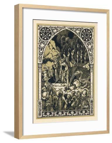 Child Offered to Satan-Bernard Zuber-Framed Art Print