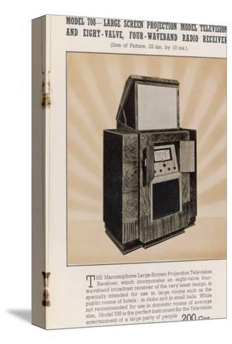 Marconi's Large Screen Projection Model Has So Big a Picture--Stretched Canvas Print