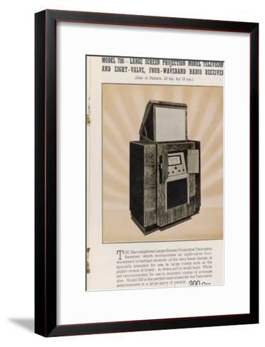 Marconi's Large Screen Projection Model Has So Big a Picture--Framed Art Print