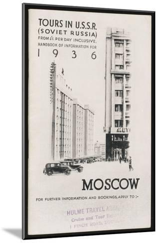 Moscow's Magnificent Modern Architecture--Mounted Giclee Print