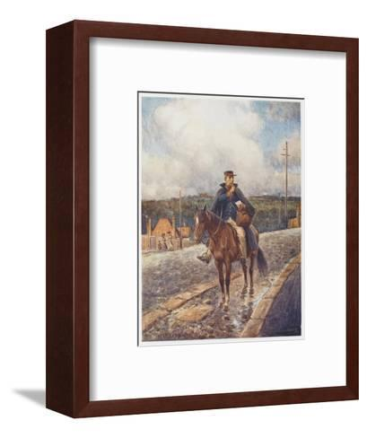 Mounted Postman in the Australian Outback-Percy F^s^ Spence-Framed Art Print