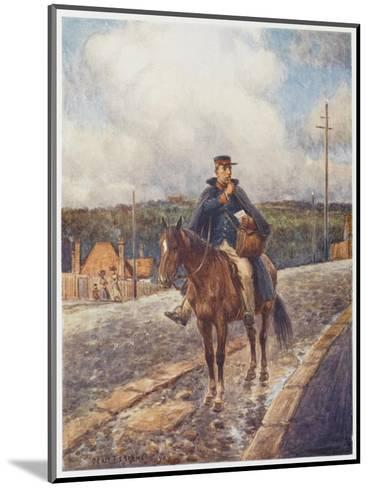 Mounted Postman in the Australian Outback-Percy F^s^ Spence-Mounted Giclee Print