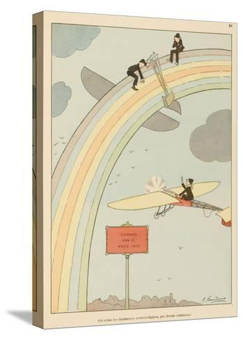 Flying to Rainbow-Joaquin Xaudaro-Stretched Canvas Print