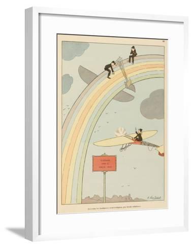 Flying to Rainbow-Joaquin Xaudaro-Framed Art Print