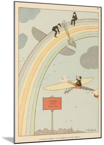 Flying to Rainbow-Joaquin Xaudaro-Mounted Giclee Print