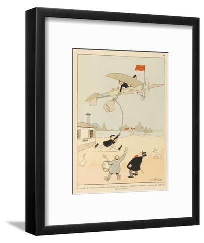 Postal Services Will be Revolutionised-Joaquin Xaudaro-Framed Art Print