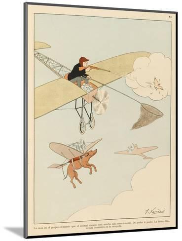 Hunting was Never Like This-Joaquin Xaudaro-Mounted Giclee Print