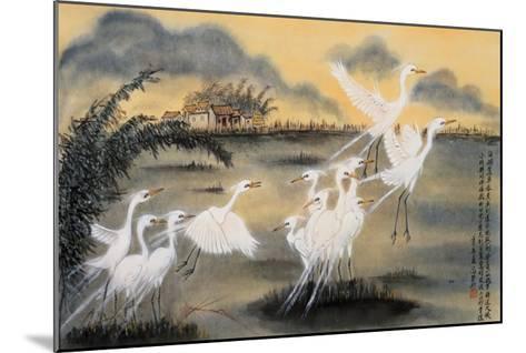 Lifting Egrets-Lu Bisa-Mounted Giclee Print