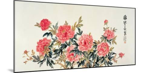 Scarlet Peonies-Lu Bisa-Mounted Giclee Print