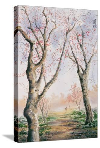 Plum Tree Lovers-Chen Kwodong-Stretched Canvas Print