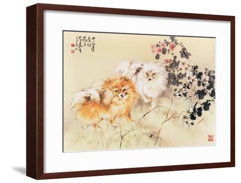 Cute Dogs-Wong Luisang-Framed Art Print