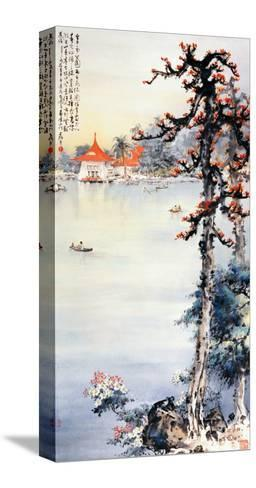 A Park in Taichung-Wong Luisang-Stretched Canvas Print