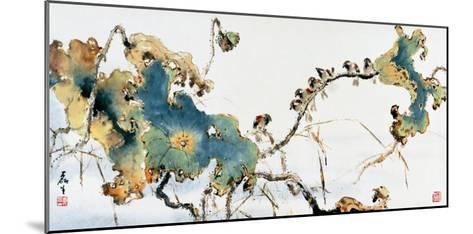 Lotus Pond in Autumn-Wong Luisang-Mounted Giclee Print