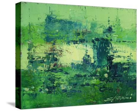 Color of Olympics Green 2-Shen Li-Stretched Canvas Print