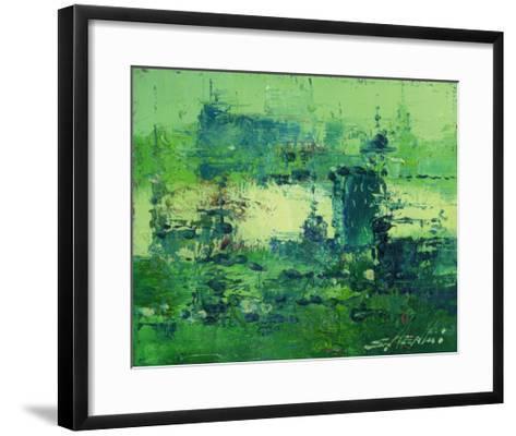 Color of Olympics Green 2-Shen Li-Framed Art Print