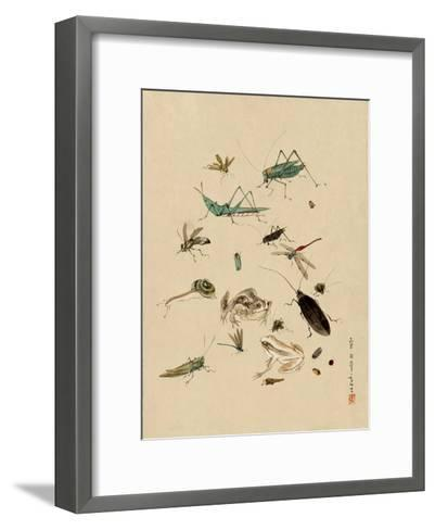 Insects and Toads--Framed Art Print