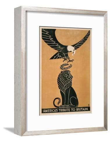 America's Tribute to Britain, circa 1917-Frederic G^ Cooper-Framed Art Print