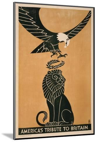 America's Tribute to Britain, circa 1917-Frederic G^ Cooper-Mounted Art Print
