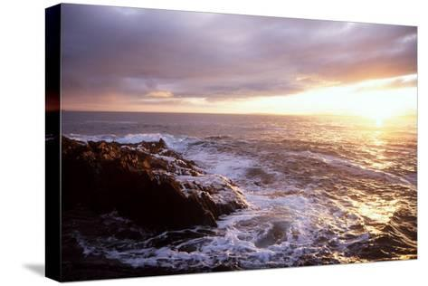 Atlantic Sunset, County Cork, Ireland-Paul Kay-Stretched Canvas Print