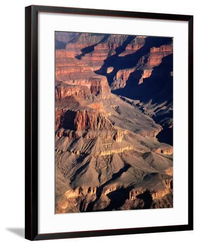 Overhead of South Rim of Canyon, Grand Canyon National Park, U.S.A.-Mark Newman-Framed Art Print