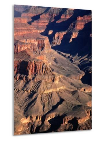 Overhead of South Rim of Canyon, Grand Canyon National Park, U.S.A.-Mark Newman-Metal Print