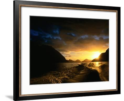 Sunrise Over Lake Manapouri, Fiordland National Park, Southland, New Zealand-Gareth McCormack-Framed Art Print