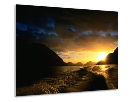 Sunrise Over Lake Manapouri, Fiordland National Park, Southland, New Zealand-Gareth McCormack-Metal Print