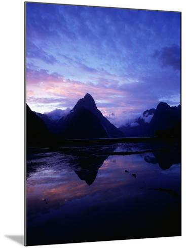 Twilight on Milford Sound, Fiordland National Park, New Zealand-David Wall-Mounted Photographic Print