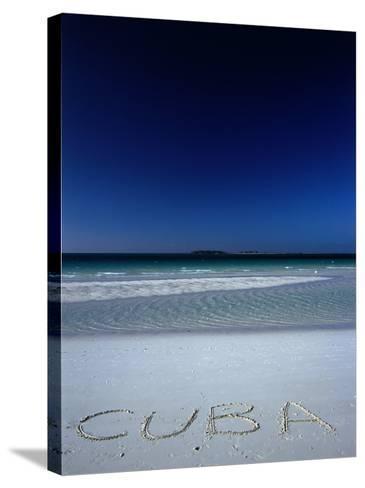 White Sand Beach at Cayo Coco Keys, Ciego De Avila, Cuba-Alfredo Maiquez-Stretched Canvas Print