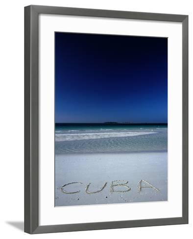 White Sand Beach at Cayo Coco Keys, Ciego De Avila, Cuba-Alfredo Maiquez-Framed Art Print
