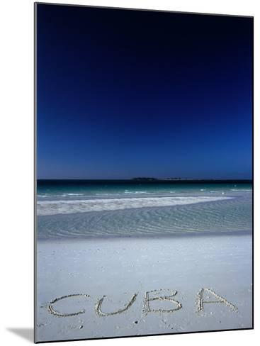 White Sand Beach at Cayo Coco Keys, Ciego De Avila, Cuba-Alfredo Maiquez-Mounted Photographic Print