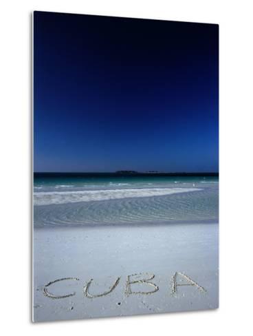 White Sand Beach at Cayo Coco Keys, Ciego De Avila, Cuba-Alfredo Maiquez-Metal Print