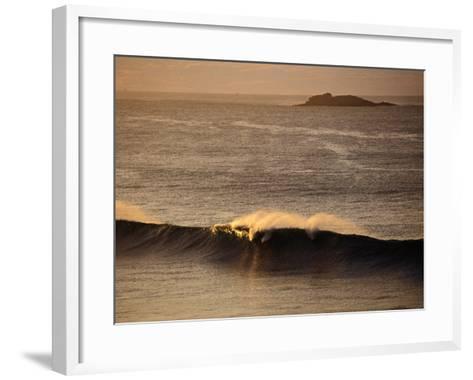 Breaking Wave Near Whiterocks Beach, Antrim, Northern Ireland-Gareth McCormack-Framed Art Print