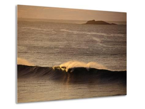 Breaking Wave Near Whiterocks Beach, Antrim, Northern Ireland-Gareth McCormack-Metal Print