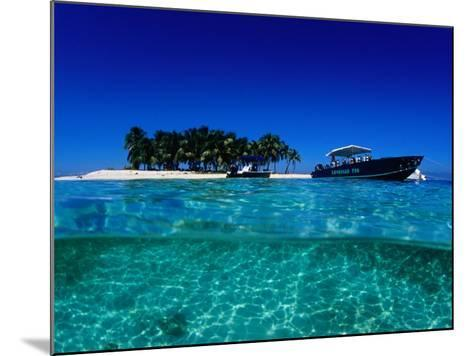 Dive Boats off Island, South Water Caye, Stann Creek, Belize-Mark Webster-Mounted Photographic Print
