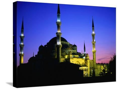 The Blue Mosque of Sultan Ahmed I (Built Between 1609 and 1616) at Night, Istanbul, Turkey-Wes Walker-Stretched Canvas Print