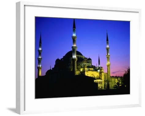 The Blue Mosque of Sultan Ahmed I (Built Between 1609 and 1616) at Night, Istanbul, Turkey-Wes Walker-Framed Art Print