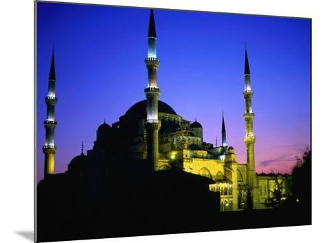 The Blue Mosque of Sultan Ahmed I (Built Between 1609 and 1616) at Night, Istanbul, Turkey-Wes Walker-Mounted Photographic Print