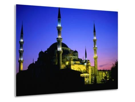 The Blue Mosque of Sultan Ahmed I (Built Between 1609 and 1616) at Night, Istanbul, Turkey-Wes Walker-Metal Print